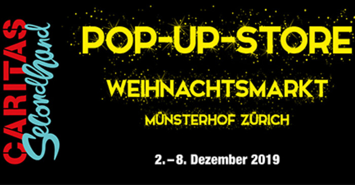 Caritas Secondhand mit Pop-up-Store am Zürcher Weihnachtsmarkt